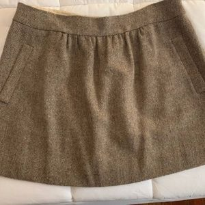 J. Crew Wool Mini Skirt with Pockets